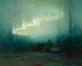 American:Regional, FROM A PRIVATE SOUTHERN CALIFORNIA COLLECTION. SYDNEY M. LAURENCE(American, 1865-1940). Northern Lights. Oil on panel...