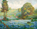 Texas, JOHN WILLIAM ORTH (American, 1889-1976). Spring Flowers. Oilon canvas. 24 x 30 inches (61.0 x 76.2 cm). Signed lower ri...