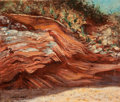Texas, GEORGE SHACKELFORD (American, 20th Century). SedimentaryRock. Oil on cardboard. 18 x 22 inches (45.7 x 55.9 cm).Signed...