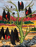 Texas:Early Texas Art - Modernists, FRANK FREED (American, 1906-1975). Buzzards. Acrylic on canvas (unstretched). 25 x 20 inches (63.5 x 50.8 cm). Signed lo...