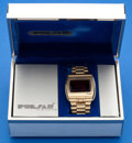 "Timepieces:Wristwatch, Pulsar (Hamilton) 14k Gold ""Time Computer"" Wristwatch, OriginalBox, Gold Filled Band. ..."