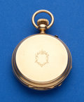 Timepieces:Pocket (post 1900), Swiss, 46 mm, 18k Hunters Case. ...
