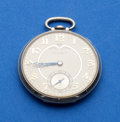 Timepieces:Pocket (post 1900), Illinois, 14k White Gold, 12 Size, Marquis Autocrat With Original Box. ...