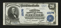 National Bank Notes:Wisconsin, Merrill, WI - $20 1902 Plain Back Fr. 654 The Citizens NB Ch. # 10176. ...