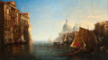 Paintings, GEORGE LORING BROWN (American, 1814-1889). Morning on the Grand Canal, Venice, 1882-3-4-5. Oil on canvas. 34-1/4 x 60 in...