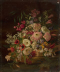 Paintings, PROPERTY FROM A WEST COAST PRIVATE COLLECTION. ADELHEID DIETRICH (German, 1827-1891). Floral Still Life, 1867. Oil on ...
