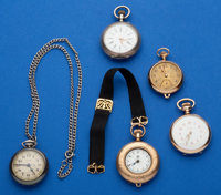 Five - Ladies Gold Filled & Silver Pendant Watches