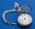 Timepieces:Pocket (pre 1900) , Miles, Ludgate Street, Parts Verge Fusee With Inner Case. ...
