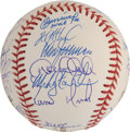 Autographs:Baseballs, 2001 New York Yankees Team Signed Baseball....