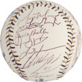 Autographs:Baseballs, 2002 National League All Star Team Signed Baseball. ...