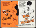 """Movie Posters:Adult, Cool It Carol!/Man of Violence Combo (Miracle Films, 1970). Half Sheet (22"""" X 28""""). Adult.. ..."""