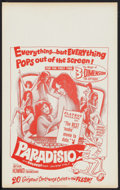 "Movie Posters:Sexploitation, Paradisio & Others Lot (Fanfare, 1961). Benton Window Card (14""X 22""), & Mexican Lobby Cards (3) (12.5"" X 16""). Sexploitati...(Total: 4 Items)"