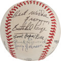 Autographs:Baseballs, Negro League Greats Multi Signed Baseball....