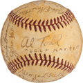 Autographs:Baseballs, 1939 Boston Bees Team Signed Baseball (traced)....