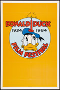 "Movie Posters:Animated, Donald Duck Anniversary Poster Lot (Buena Vista, 1984). One Sheet(27"" X 41"") and Special Advance Poster (13.5"" X 20""). Anim...(Total: 2 Items)"