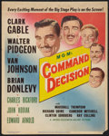 "Movie Posters:War, Command Decision (MGM, 1948). Window Card (14"" X 17.5""). War.. ..."