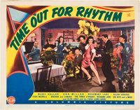 "Time Out for Rhythm (Columbia, 1941). Title Lobby Card and Scene Card (11"" X 14""). ... (Total: 2 Items)"