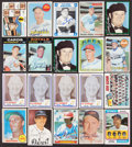 Baseball Cards:Autographs, Major League Managers, Umpires, Players and Executives Signed Vintage Baseball Cards Lot of 20....