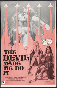 """The Devil Made Me Do It (Unknown, 1970). One Sheet (27"""" X 41""""). Sexploitation"""