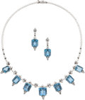 Estate Jewelry:Suites, Aquamarine, Diamond, White Gold Suite, H. Stern. ...