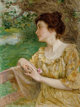 EDWARD HENRY POTTHAST (American, 1857-1927) Summer Oil on canvas 16 x 12 inches (40.6 x 30.5 cm) Signed lower left