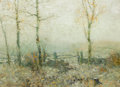 Fine Art - Painting, American:Modern  (1900 1949)  , BRUCE CRANE (American, 1857-1937). Edge of the Woods, circa1910. Oil on canvas. 22 x 30 inches (55.9 x 76.2 cm). Signed...