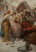 Fine Art - Painting, European:Antique  (Pre 1900), FERNAND CORMON (French, 1845-1924). An Exotic Woman and HerAttendants, 1898. Oil on canvas. 36-1/2 x 25-3/4 inches (92....