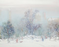 Fine Art - Painting, American:Modern  (1900 1949)  , JOHANN BERTHELSEN (Danish/American, 1883-1972). Winter in theCity. Oil on canvas . 24-1/4 x 30 inches (61.6 x 76.2 cm)...