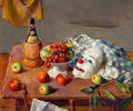 Fine Art - Painting, American:Modern  (1900 1949)  , ROBERT BRACKMAN (American, 1898-1980). Arrangement # 7, TheMask. Oil on canvas . 25 x 30 inches (63.5 x 76.2 cm). Signe...