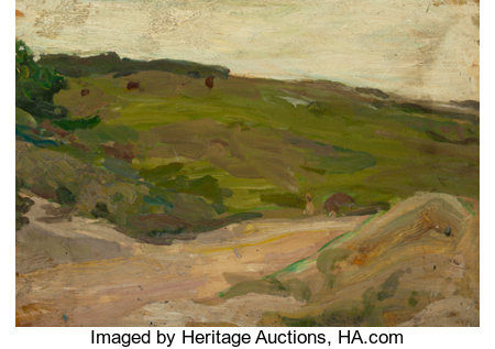 PROPERTY FROM A VIRGINIA PRIVATE COLLECTION HENRY OSSAWA TANNER (American, 1859-1937) Country Scene in the Adirondacks...