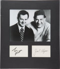 Movie/TV Memorabilia:Autographs and Signed Items, Tony Randall and Jack Klugman Autograph Display....