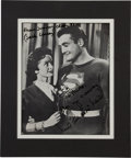 Movie/TV Memorabilia:Autographs and Signed Items, Noel Neill and Jack Larson Signed Adventures of Superman Still....