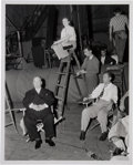 Movie/TV Memorabilia:Photos, Alfred Hitchcock Rare Set Photo....
