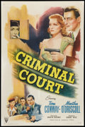 "Movie Posters:Crime, Criminal Court (RKO, 1946). One Sheet (27"" X 41""). Crime.. ..."