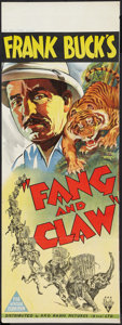 "Movie Posters:Adventure, Fang and Claw (RKO, 1935). Australian Daybill (14.5"" X 40"").Adventure.. ..."