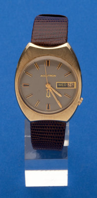 Bulova 14k Gold Accutron, Original Box
