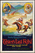 "Movie Posters:Western, Custer's Last Fight (Quality Amusement, R-1925). One Sheet (27"" X 41""). Western.. ..."