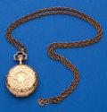 Timepieces:Pocket (post 1900), Illinois 14k Gold O Size Hunters Case. ...
