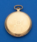 Timepieces:Pocket (post 1900), Swiss, 14k Gold, 51 mm Hunters Case. ...