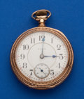Timepieces:Pocket (post 1900), Elgin, 18 Size, 21 Jewel Father Time. ...