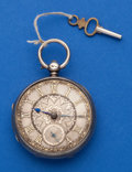 Timepieces:Pocket (post 1900), Swiss, 16 Size Sterling Lever Fusee. ...
