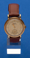 Timepieces:Wristwatch, Tissot, 14k Gold Bumper Wind Automatic. ...