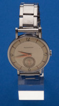 Timepieces:Wristwatch, LeCoultre, Large Steel Manual Wind Wristwatch. ...
