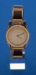 Timepieces:Wristwatch, LeCoultre, Gold Filled Manual Wind Fancy Lugs. ...