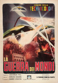 "Movie Posters:Science Fiction, The War of the Worlds (Paramount, R-1960s). Italian 4 - Foglio (55""X 78"").. ..."
