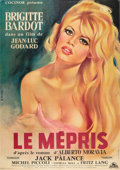 "Movie Posters:Drama, Le Mepris (Cocinor, 1963). French Grande (47"" X 63"").. ..."