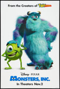 "Movie Posters:Animated, Monsters, Inc. Lot (Buena Vista, 2001). One Sheet (27"" X 40"") DSAdvance and Video Promo Posters (26"" X 40""). Animated.. ... (Total:3 Items)"
