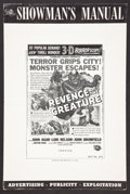 """Movie Posters:Horror, Revenge of the Creature Lot (Universal International, 1955). Pressbooks (2) (Multiple Pages, 12"""" X 18""""). Horror.. ... (Total: 2 Items)"""