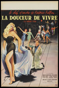 "Movie Posters:Drama, La Dolce Vita (Consortium Pathe, 1960). French Petite (15.75"" X23.5""). Drama.. ..."