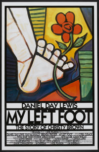 """My Left Foot (Sovereign, 1989). One Sheet (27"""" X 41""""). Drama"""